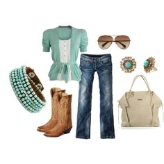 I wouldn't wear the whole outfit at once, but great mix-and-match pieces! Love the boots!