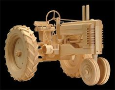 click here for more wooden toys farm tractor wood plans finished to ...