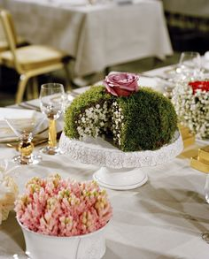 Gunnar Kaj is the creative director for all the flower arrangements at the Nobel Banquet and the flowers are donated from San Remo, where Alfred Nobel spent his final years. Photo by Fredrika Berghult