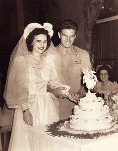 World War II Wedding Couple