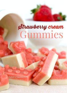 Strawberry Cream Gummies (with gelatin)(Paleo/AIP)