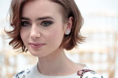 Lily Collins- Chanel Haute Couture Show Winter 2014