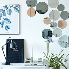 YoHome Home & Kitchen Mirrors, Home Décor Mirrors, Wall-Mounted Mirrors, Mirror Sets of 10 Mirror Set, Wall Mounted Mirror, Wall Design, House Design, Wall Writing, Long Walls, Home Decor Mirrors, Kitchen Mirrors, House Wall