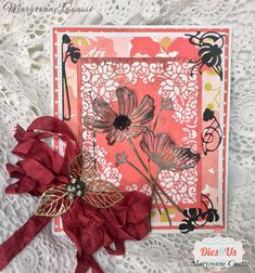 Hello Friends of DIES R US Inspiration Blog ! Maryvonne With you Today with a Colorful Spring card : I especially wan...