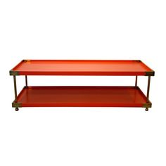 Harbinger Gould Cocktail Table | Tables and Desks | Harbinger orange #colorfurniture