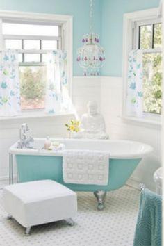 Super cute and girly bathroom