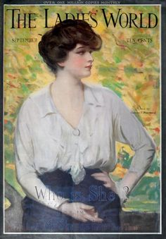 Ladies' World 1914-09. Cover by Clarence Underwood.
