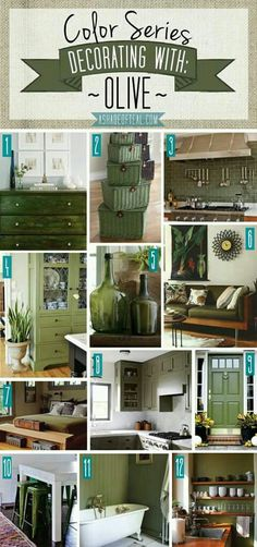 Decorating With The Colour Olive Green Home Decor