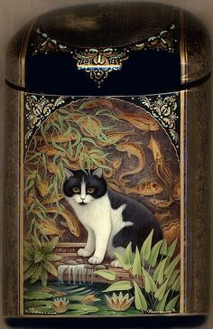 Art on Russian Lacquered Box