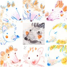 challenge filled with cute hedgehog faces Hedgehog Drawing, Hedgehog Art, Cute Hedgehog, Hedgehog Illustration, Binky, Faber Castell, Prismacolor, Exotic Pets, Hedges