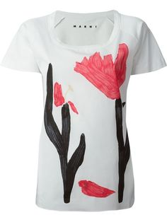 Compre Marni flower print T-shirt em Monti from the world's best independent boutiques at farfetch.com. Over 1000 designers from 300 boutiques in one website.