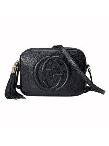 Gucci Soho Black Calfskin Leather Disco Bag Replica  2c612d0f821fb