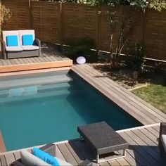 Swimming Pool Landscaping, Swiming Pool, Small Backyard Pools, Backyard Pool Designs, Small Pools, Swimming Pools Backyard, Swimming Pool Designs, Backyard Patio, Backyard Landscaping