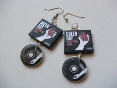 Green Day American Idiot album earrings