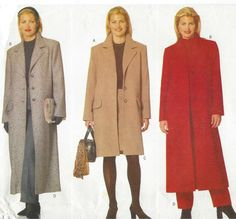 90s Womens Coat in 2 Lengths Skirt & Pants by CloesCloset on Etsy