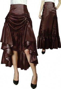 Steampunk Lace-up Skirt Steampunk Skirt, Steampunk Couture, Victorian Steampunk, Steampunk Clothing, Steampunk Fashion, Victorian Fashion, Gothic Fashion, Steampunk Outfits, Gothic Clothing