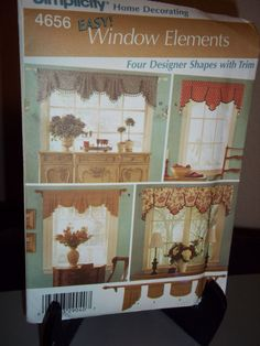 Simplicity #4656 Sewing Pattern Easy Window Treatments Curtains Uncut FF #Simplicity