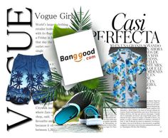 """Banggood20 #men_fashion #summer_fashion #blue_kombination"" by almin-sturm ❤ liked on Polyvore featuring Whiteley, Nika, men's fashion and menswear"