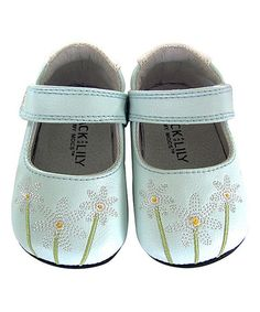 Another great find on #zulily! Light Blue Daisy Leather Patricia Mary Jane #zulilyfinds