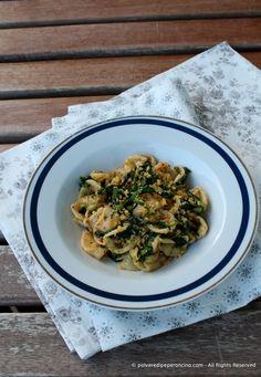 Orecchiette with broccoli raab - Orecchiette con le cime di rapa Broccoli Raab, Gnocchi, Pasta, Risotto, Ethnic Recipes, Cooking, Food, Kitchen, Essen