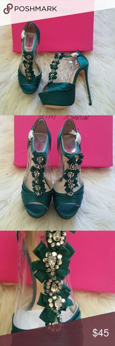 Gorgeous Betsey Johnson Platforms Brand new, comes with box. Size 6 Textile Upper. PU lining. Fabric coated outsole.  Offers welcome! Betsey Johnson Shoes Platforms