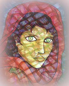 dream afghan girl with white waves by santosam81.deviantart.com on @DeviantArt