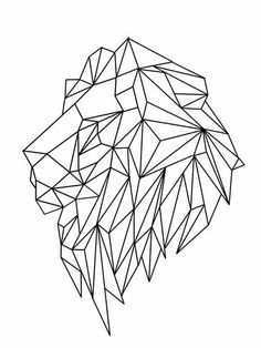 Lion geometric tattoo designs