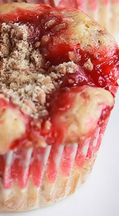 Cherry Cobbler Cupcakes Recipe. Add a little whipped cream to fancy it up!