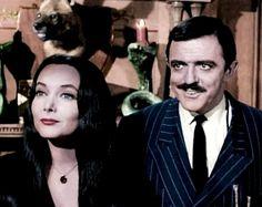 #paulmitchell #halloweenhair Morticia and Gomez Addams