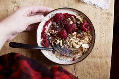 Recept – veganska lunchbowls med hallon för hemmaarbetsdagar