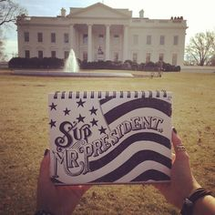 Day #20 of #365daysoflettering Sup Mr. President. #whitehouse #lettering #sketch #typography #design #dc #micron