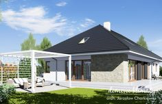 House design Wiesiołek 3, wizualizacja 2 Ideas Para, Bungalow, House Plans, House Design, How To Plan, Outdoor Decor, Projects, Home Decor, Houses