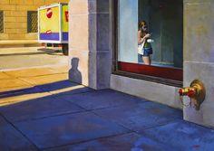 Nigel van Wieck - Without Even Looking, oil on panel, 17x24in