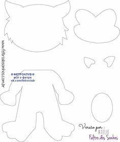 Bonecos Os três porquinhos e o lobo mau com molde Finger Puppet Patterns, Finger Puppets, Felt Puppets, Marionette, Storybook Characters, Diy Crafts Hacks, Greeting Card Template, Felt Fairy, Three Little Pigs