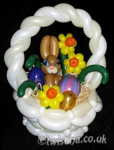 Easter Basket- Balloon Sculpture By Twistina The Amazing Balloon Lady
