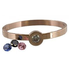 Stainless Steel Rose Gold Armband met Diamant