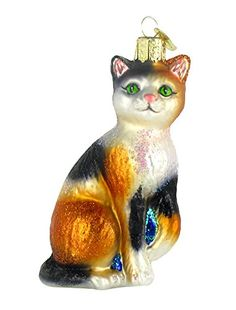 Old World Christmas Ornaments: Calico Cat Glass Blown Ornaments for Christmas Tree - Cat store galore Christmas Tree And Santa, Old World Christmas Ornaments, Holiday Tree, Christmas Cats, Christmas Decorations, Holiday Decor, Christmas Offers, Christmas Time, Christmas Bulbs