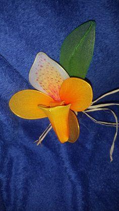 "Paphiopedium nylon orchid Nylon flowers art studio ""Jasmine"""