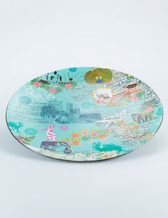 INDIA plate turquoise   Table accessories   Kitchen Utensils   Interior   INDISKA Shop Online