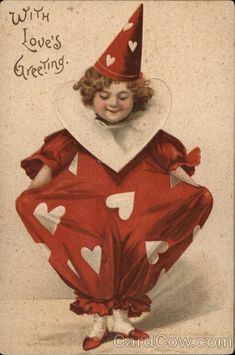 One of the vintage valentines day postcard designs from the Cavallini Vintage Postcards set! Valentines Day Post, Valentine Images, My Funny Valentine, Valentines Day Greetings, Vintage Valentine Cards, Vintage Greeting Cards, Valentine Day Cards, Valentine Crafts, Vintage Postcards