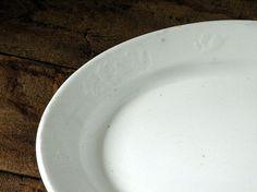 Antique white plain ironstone platter by OliverandRust on Etsy, $22.00