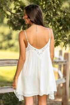 Dainty Damsel Dress-Ivory - $46.00