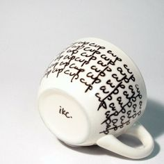 Obsessive Art coffee cup by vivian