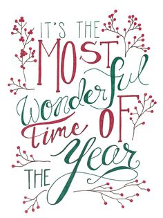 Most Wonderful Time of the Year Christmas Print and Greeting Card