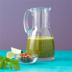 Cuban Chimichurri Recipe: cilantro, garlic, parsley, red pepper, black pepper, balsalmic, lime juice, soy, lime peel, olive oil