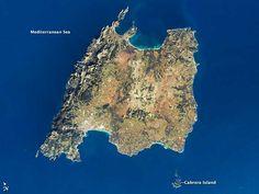 La isla de Mallorca desde el espacio