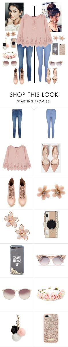 """""""2 Girls, 2 Styles, 1 Shirt"""" by kaileewhaley13 ❤ liked on Polyvore featuring 3x1, New Look, Comptoir Des Cotonniers, Van Cleef & Arpels, NAKAMOL, Kate Spade, Jimmy Choo, Linda Farrow, Forever 21 and GUESS"""