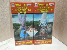 NEW Dragon Ball Super DWC World Collectable Whis & Beers 003 004 Figure Set Rare