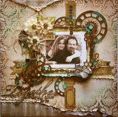 NEW Kit Page! Masculine/Romantic {The Scrapbook Diaries} PLUS a NEW Stamp!!!