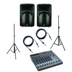 Powered Speaker PA System